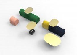 A Dada - système d'assises modulaires - Cider