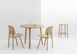 Tabouret, table et chaise Paddle