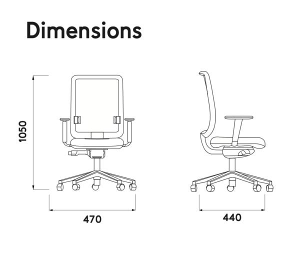 I-Task – chaise de bureau personnalisable, confortable et économique