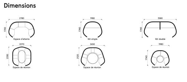 Pentagone – l'alcôve acoustique modulaire