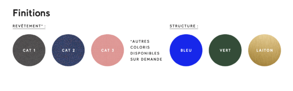 Finitions Cast – assises modulables